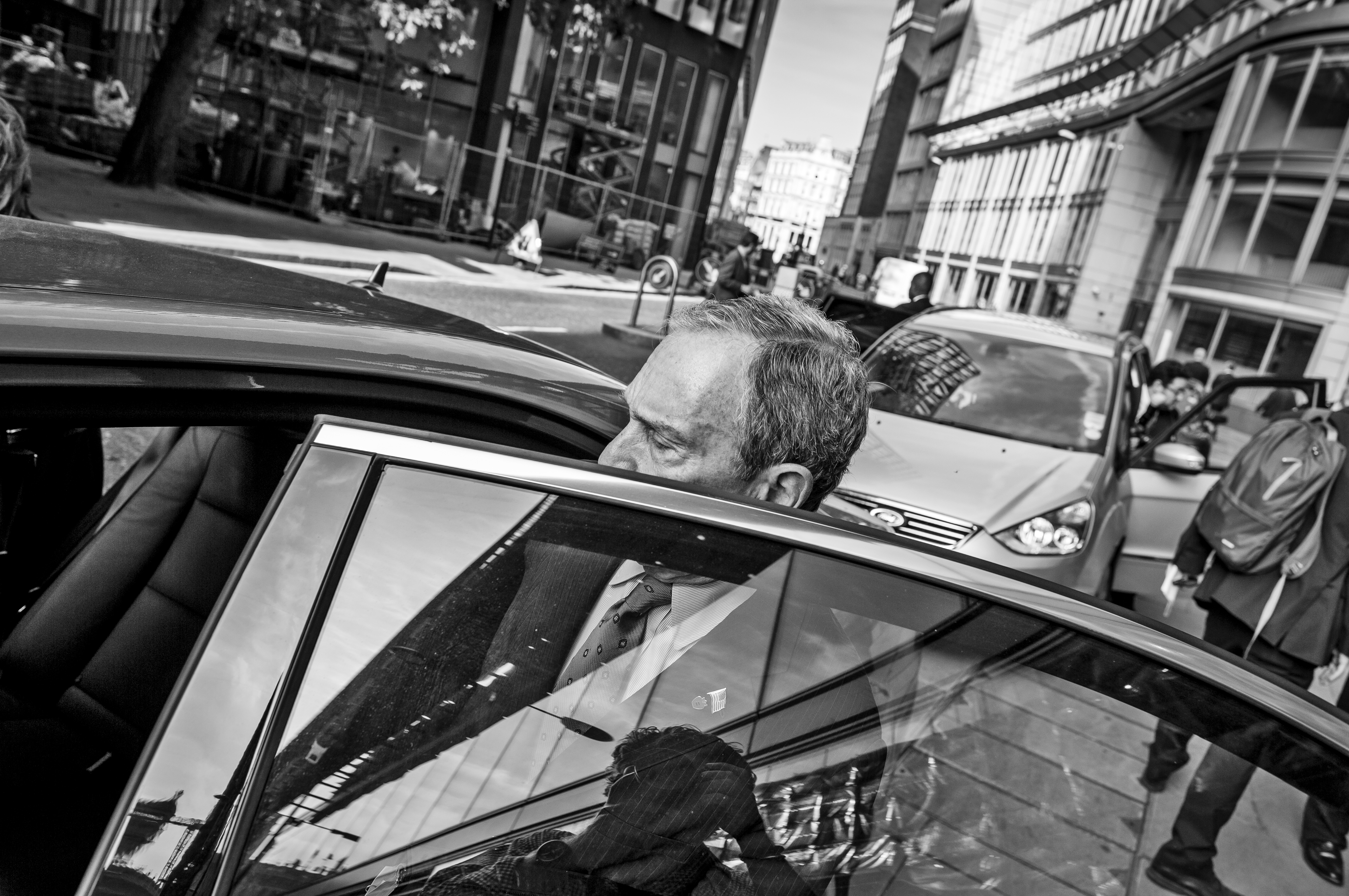 Mayor Bloomberg and his team on the streets of London.