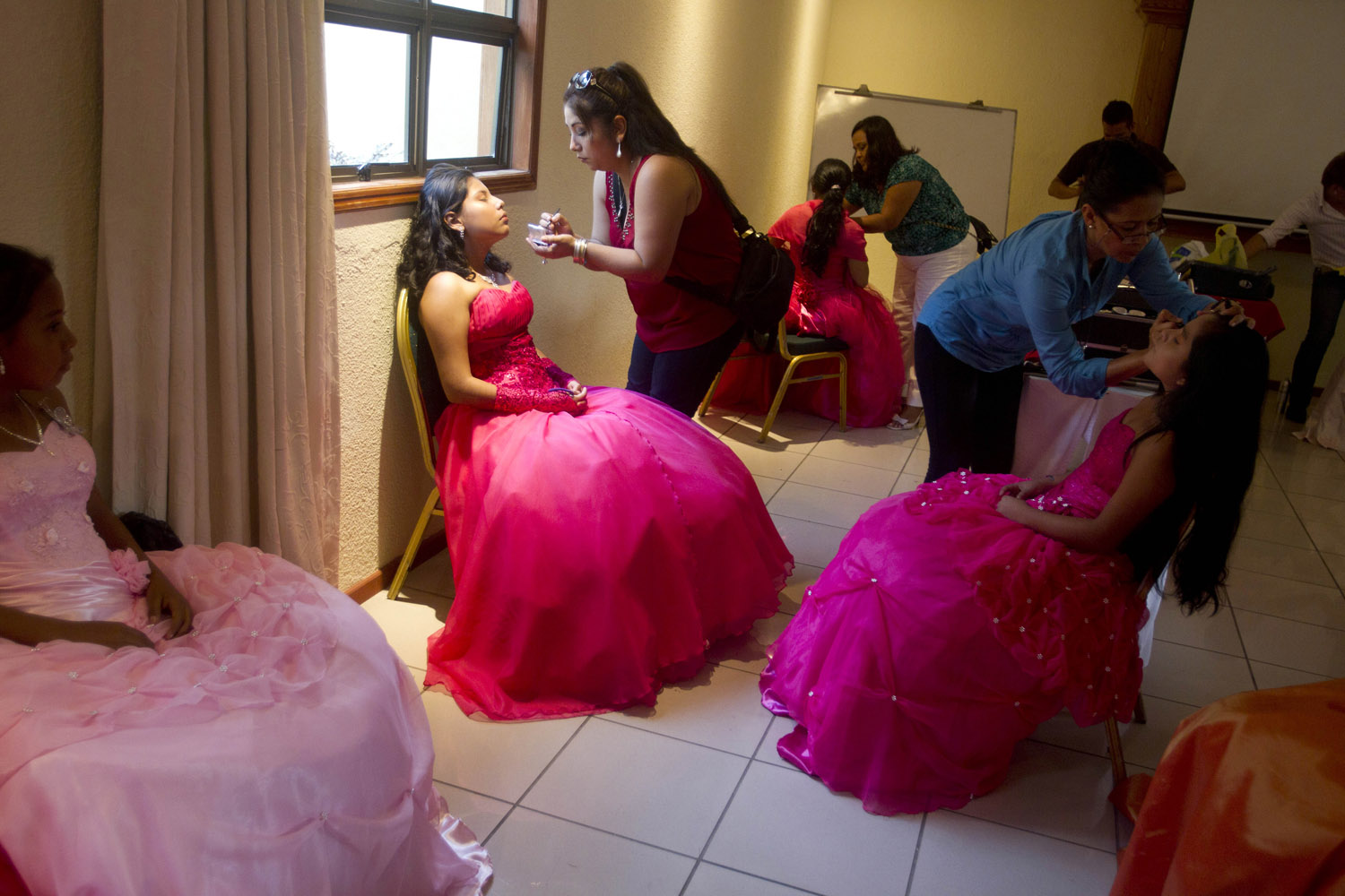 Sept. 21, 2013. Nicaraguan girls suffering from cancer prepare for a  quinceañera  party in Managua, Nicaragua.