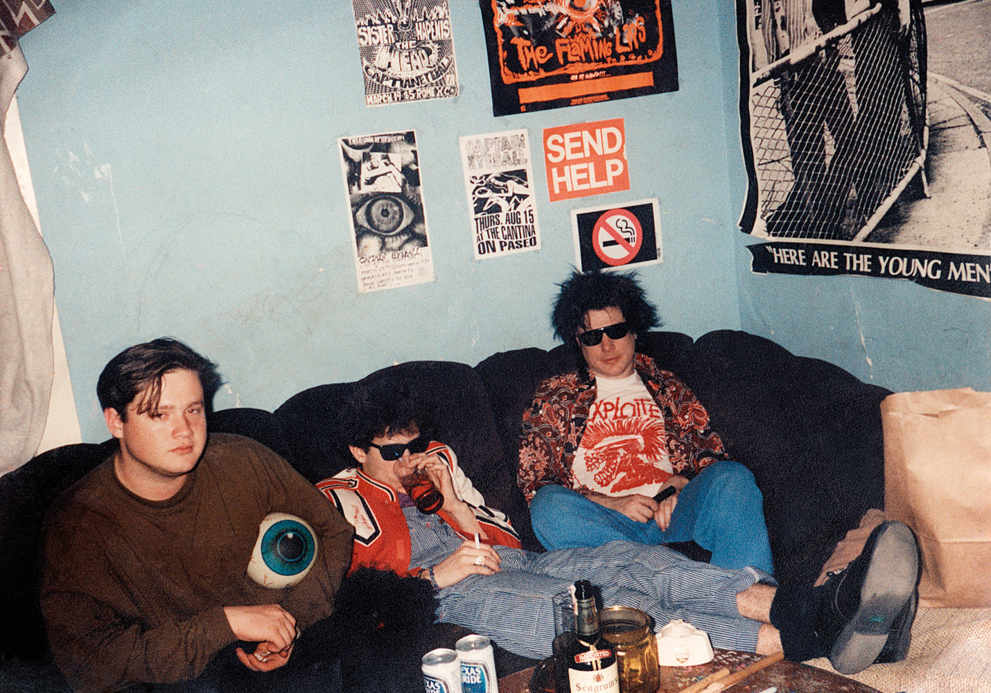 I dated Dave (left), bassist of Oklahoma City's Captain Eyeball. He introduced me to a number of my favourite bands and labels, mostly 4AD and Sub Pop, The Pixies, Tones on Tail, Sonic Youth...It was from him that I first heard  Bleach  and liked it right away.