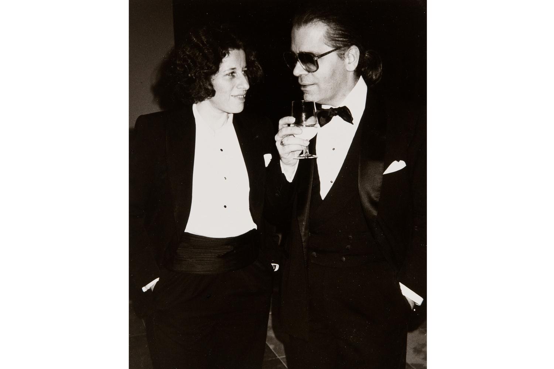 Fran Lebowitz and Karl Lagerfeld, 1984