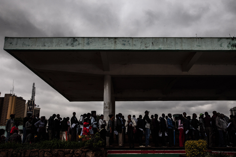 Sept. 24, 2013. Kenyans arrive at Uhuru Park to donate blood for victims of the Westgate Shopping Center terrorist attack in Nairobi, Kenya.