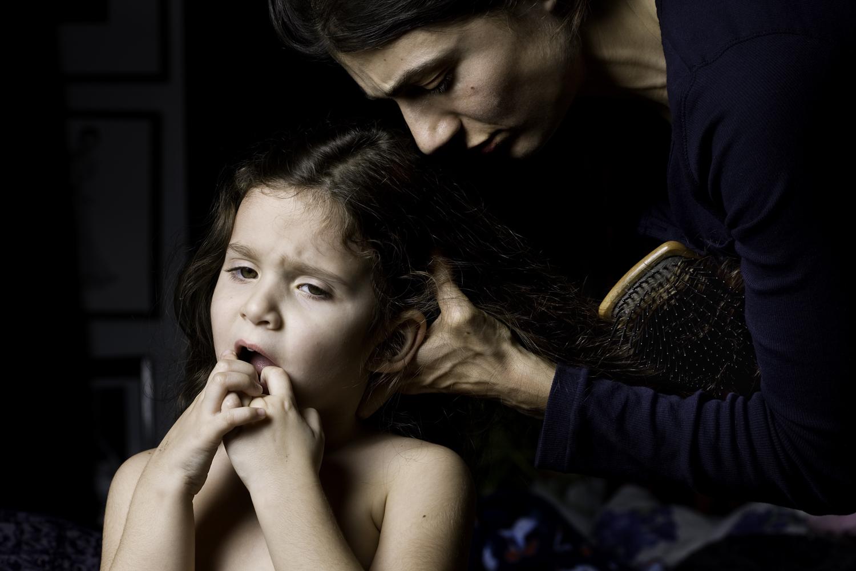 Brushing hair, 2010