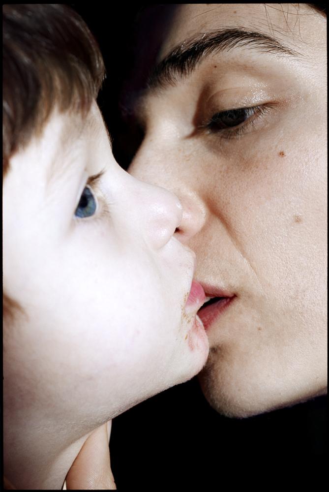 Kissing my son, 2007