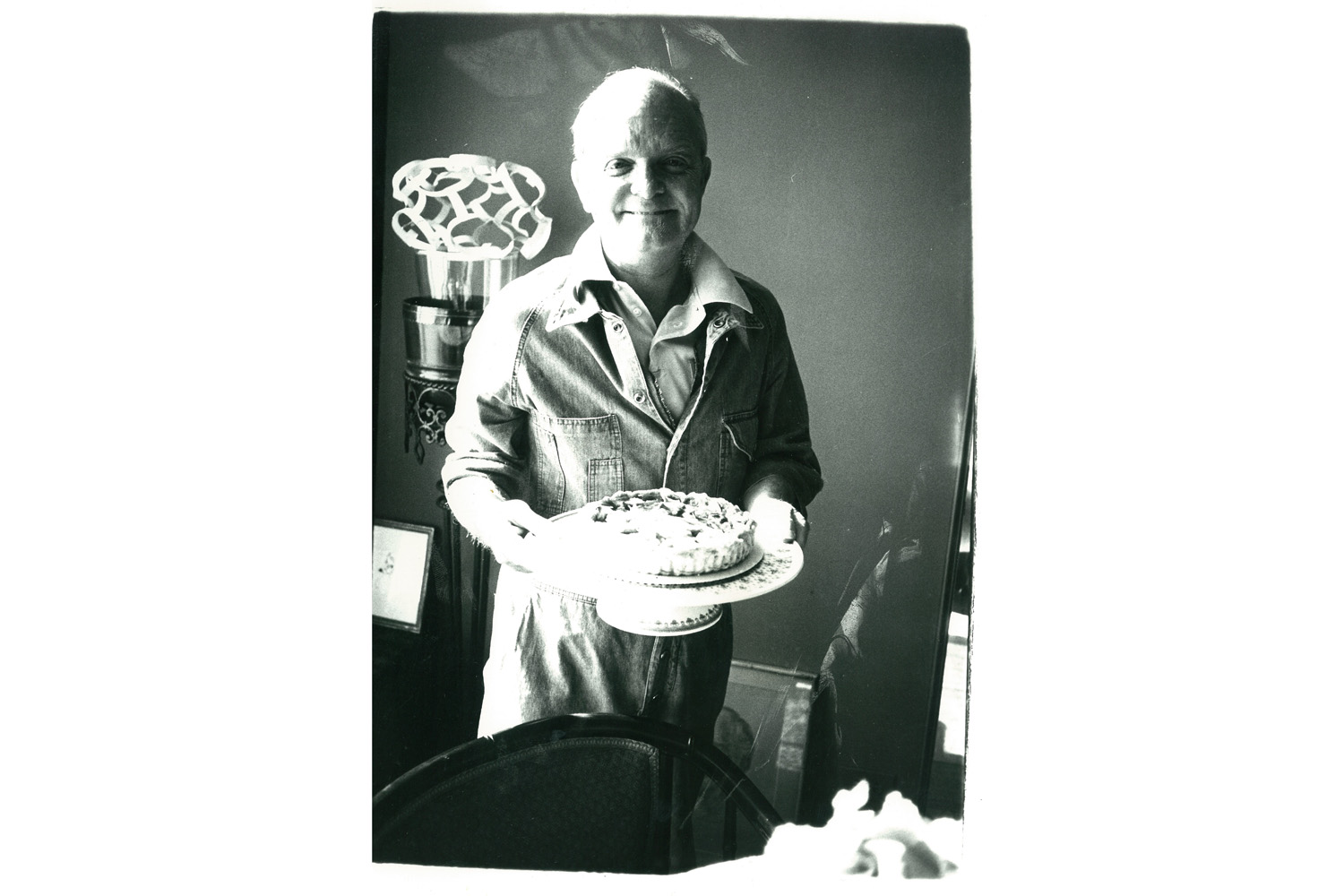 Truman Capote with Cake