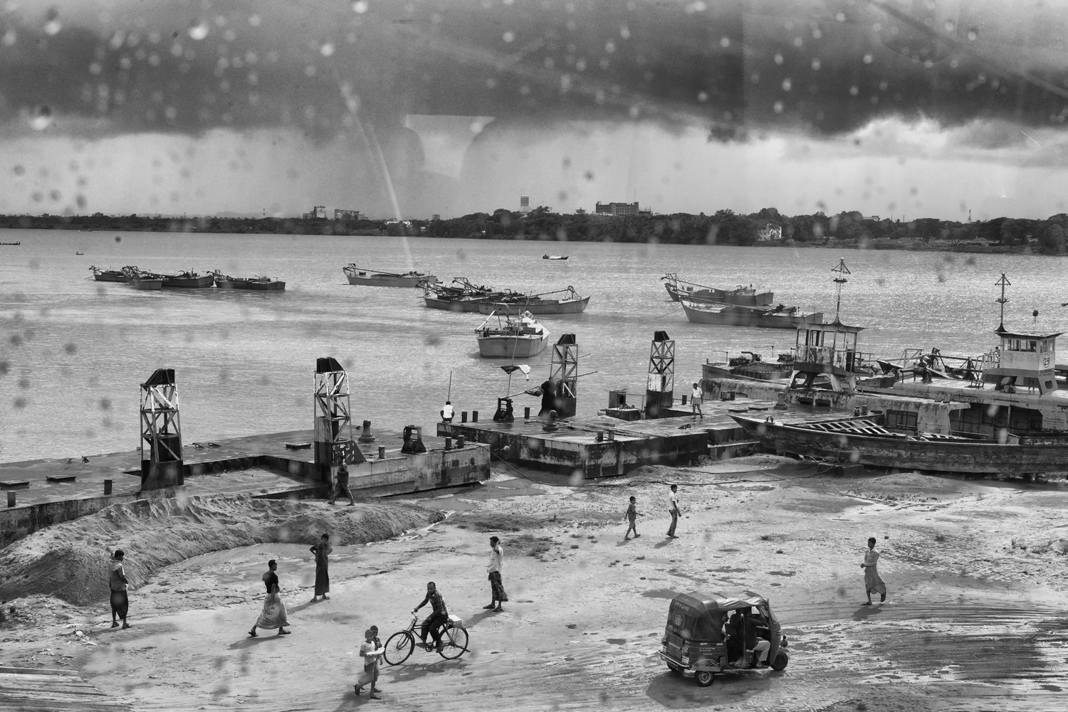 Workers seen here in the                               boatyards. The boatyards of Dhaka and Chittagong are one of the fundamental causes of                                pollution in South Dhaka, Bangladesh.