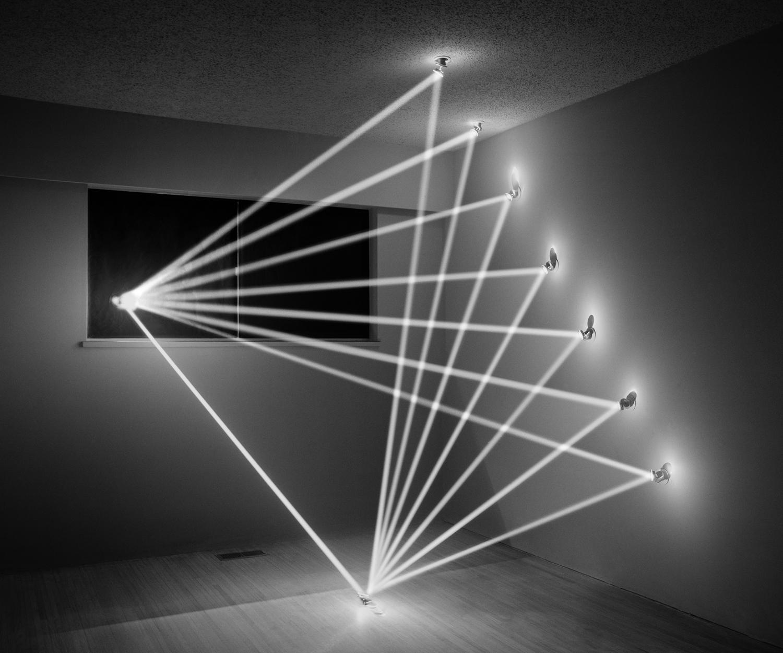 Exhibition. James Nizam,  Breaking Light.  Christophe Guye Galerie, Zurich, Switzerland. October 25 - November 30, 2013. Pictured: Thought Form (Fan), 2011.