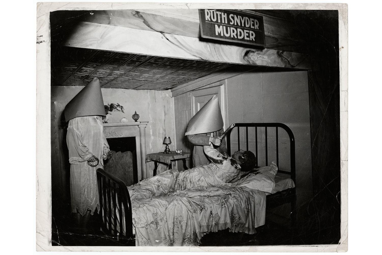 "Book. Weegee: Murder is My Business, by Weegee. Prestel. Fall 2013. Pictured: ""Ruth Snyder Murder"" wax display, Eden Musée, Coney Island, New York], ca. 1941."