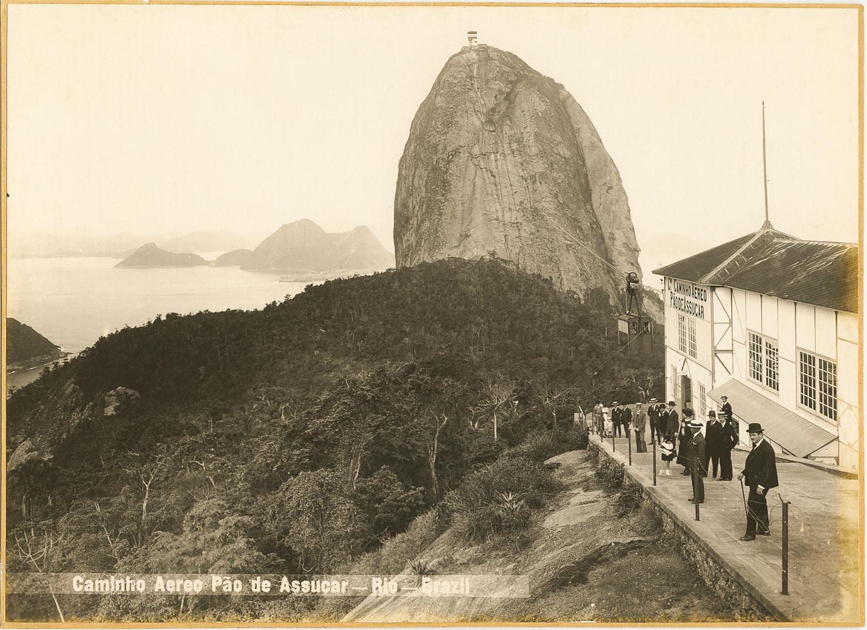 Exhibition. Studio Photographs-Rio De Janeiro, Galeria FASS, Sao Paolo, Brazil. October 19 - December 21, 2013. Pictured: Air Way Pao de Acucar, Gelatin Silver Print, c. 1920s.