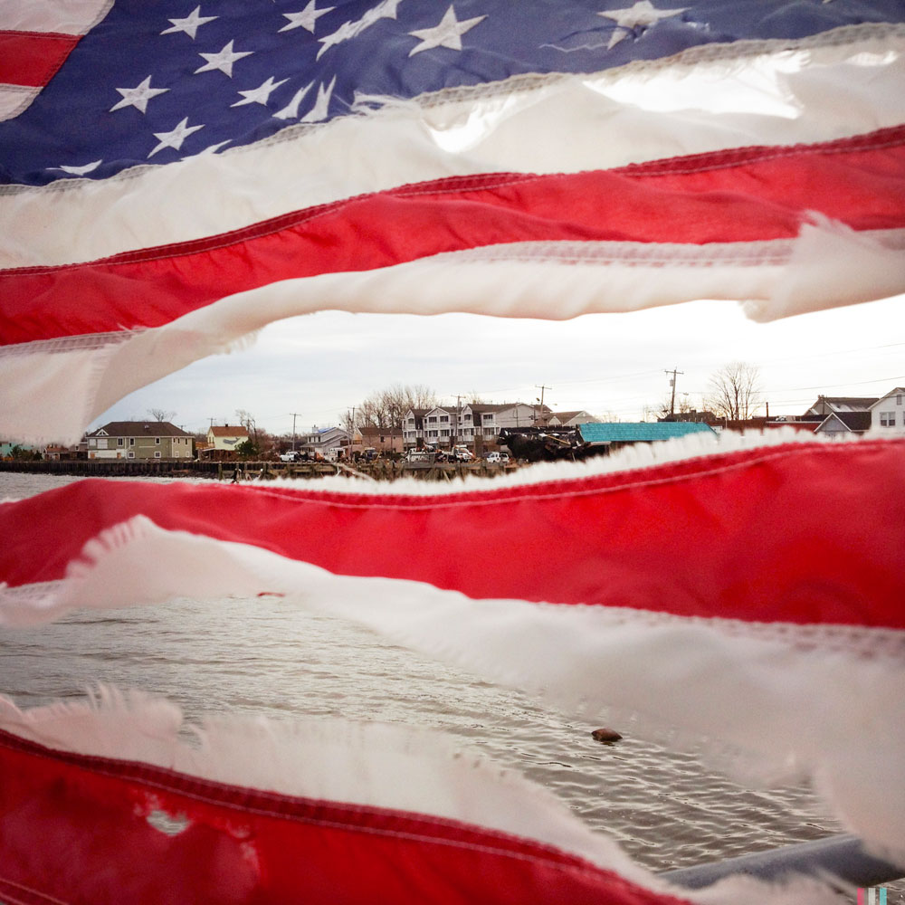 Torn Flag, Union Beach, N.J., 2012