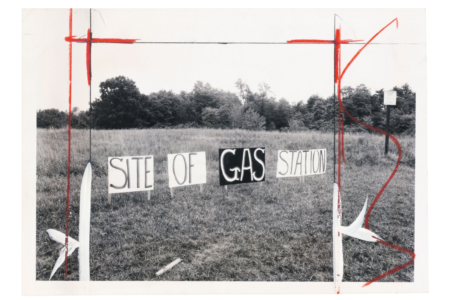 The following photographs were taken from 1944 - 1995 by various press photographers. The titles were taken from any information available on the back of each print, often hand-written editors' notes.More signs in a field clearly mark the spot where HRD wants to pump gas