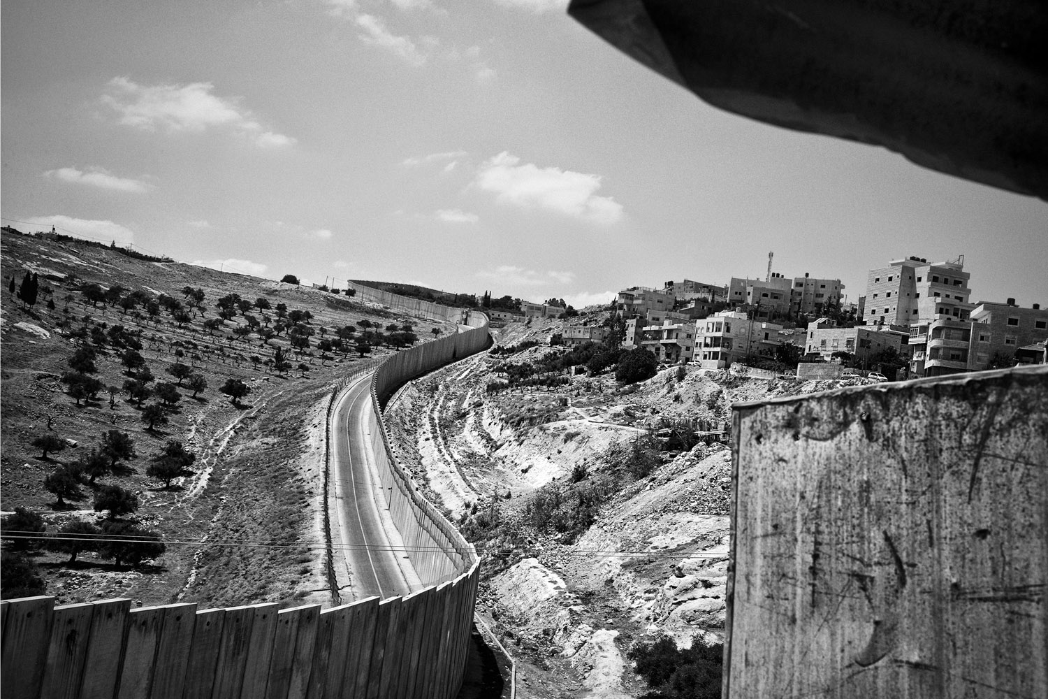 The separation wall in Abu Dis, West Bank, June 14, 2013.
