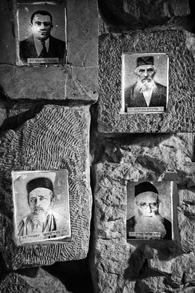 Portraits on glass plates of Jews killed in the massacre in 1929 in Hebron, West Bank during the riots that broke out in Mandatory Palestine, April 29, 2013.