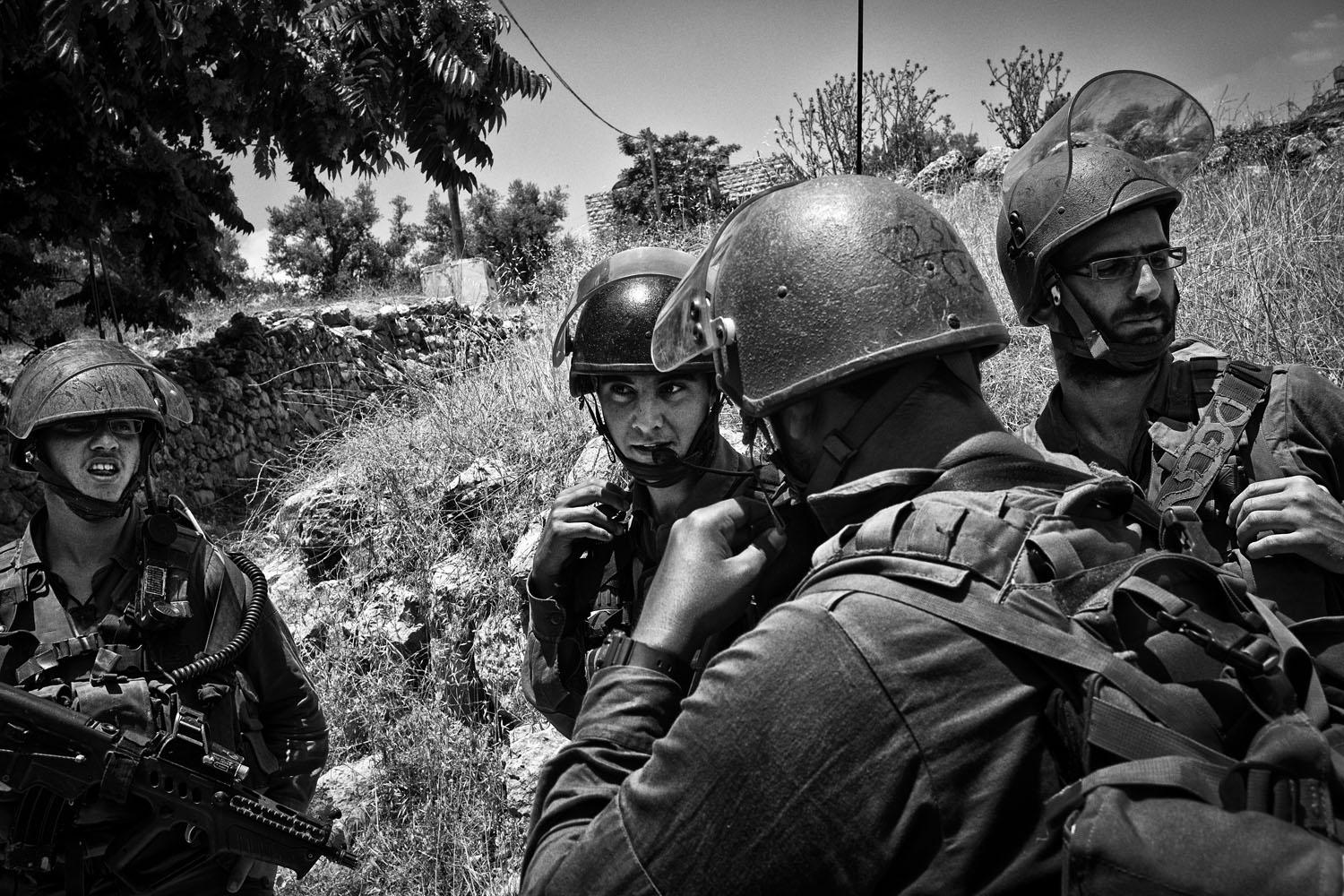 Soldiers patrolling in the West Bank, June 10, 2013.
