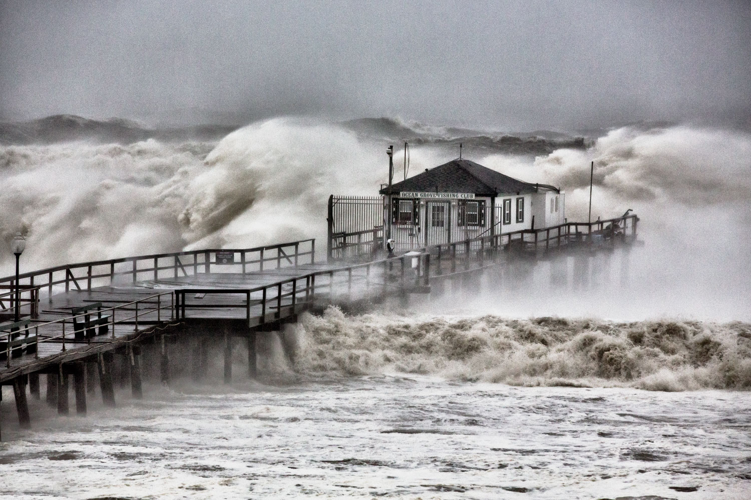 Hurricane Sandy, Ocean Grove Pier, N.J., Oct. 29, 2012