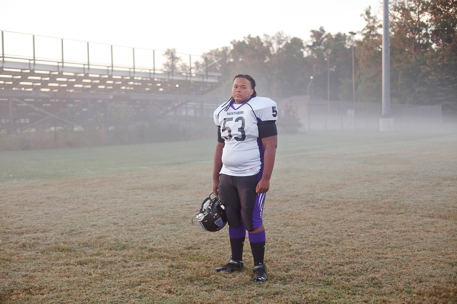 Dre Gambrell, 17,  at his high school in Sterling, VA on Sept. 5, 2013.