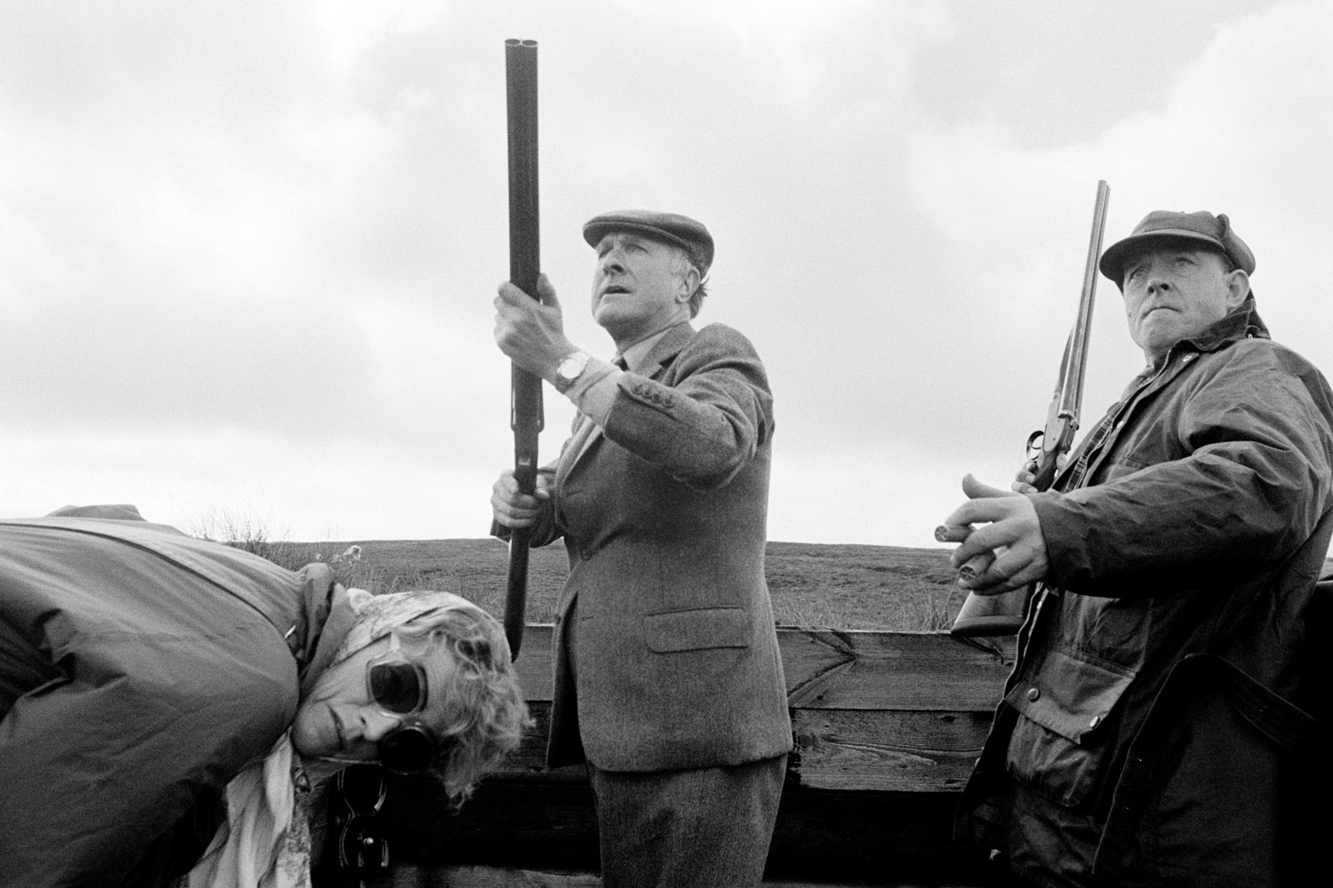 The following photographs were taken from 1975 - 1980.Lord Saville has just shot a grouse.