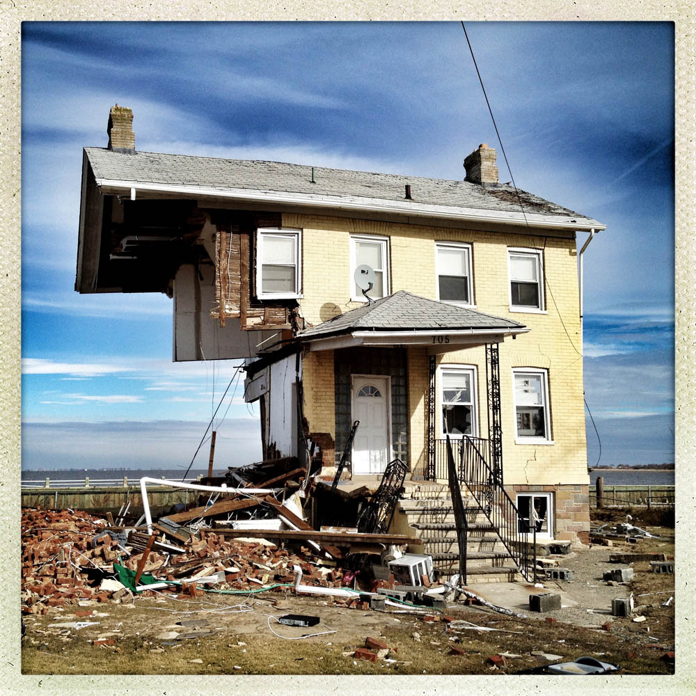 A beach front home lies in tatters, Union Beach, N.J., Nov. 9, 2012