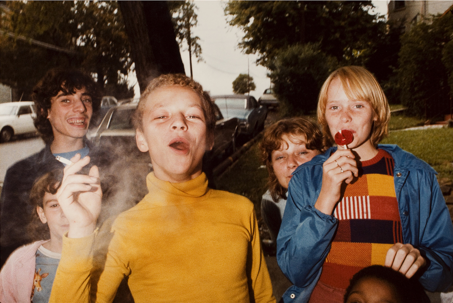 Exhibition.  Color! American Photography Transformed.  Amon Carter Museum of American Art, Fort Worth, Texas. October 5, 2013 - January 5, 2014. Pictured: Boy in Yellow Shirt Smoking, 1977.