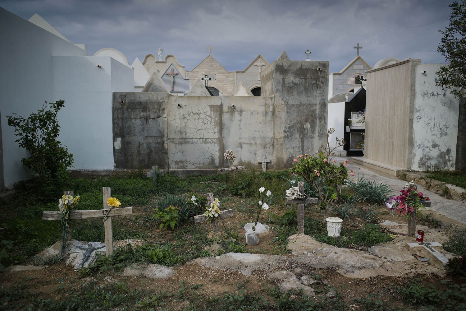 Oct. 7, 2013. Unidentified tombs of immigrants inside the cemetery of the Italian island of Lampedusa.