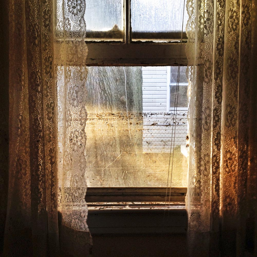 Window Curtains and Flood Line, New Dorp, Staten Island, N.Y., 2012