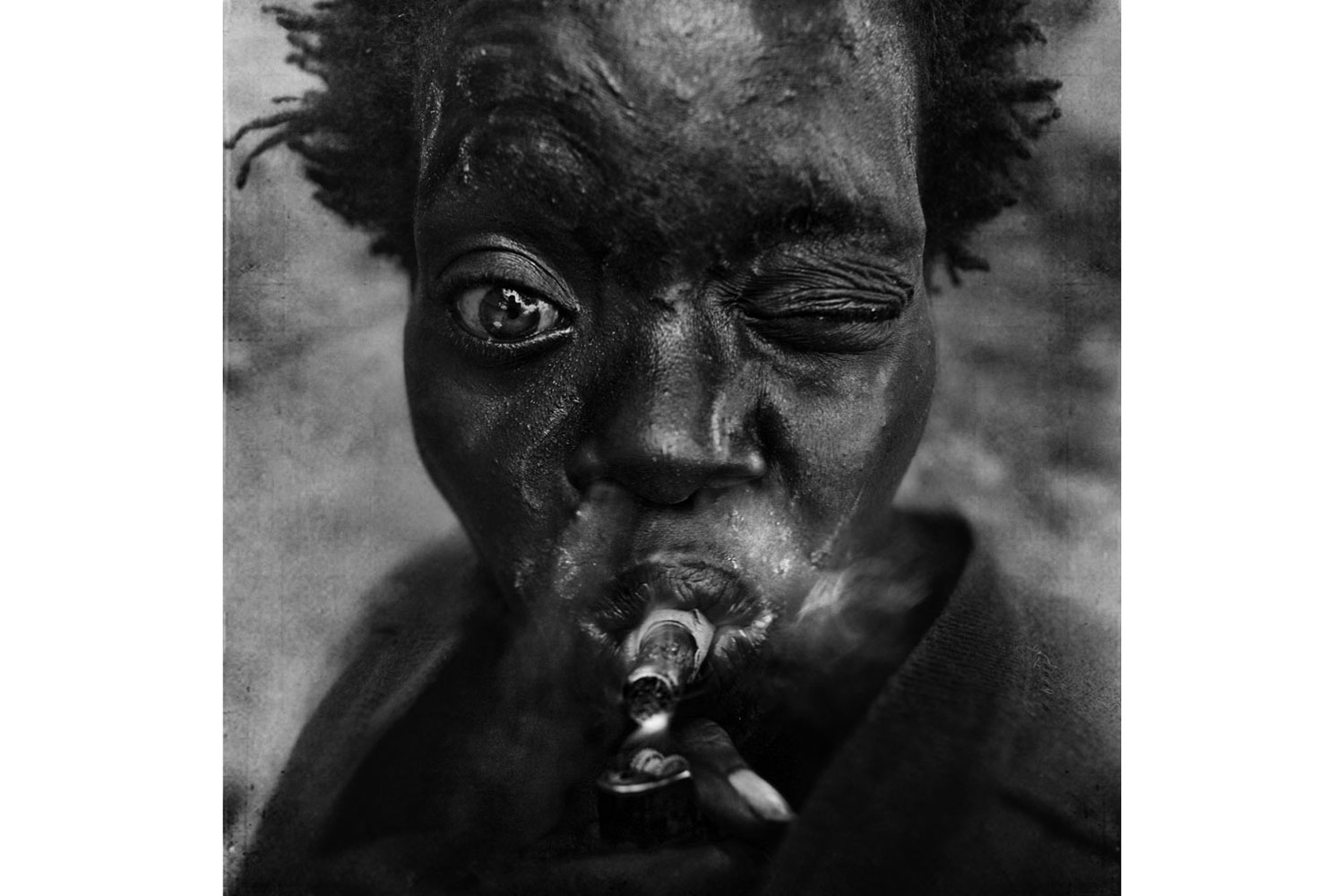 Exhibition. Lee Jeffries,  Homeless.  Museo Di Roma in Trastevere, Trastevere, Italy. On view until January 12, 2014. Pictured: Latoria, Overtown, Miami, Florida. February 6, 2012.