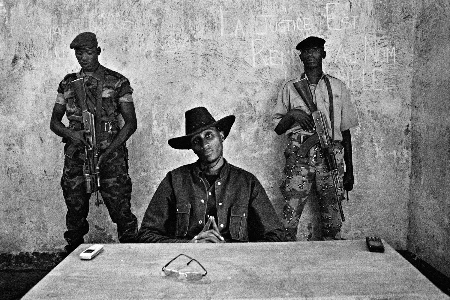 2007: Cédric Gerbehaye In 2007, for the Joop Swart Masterclass I wanted to show the fragility and weakness of the peace process in Eastern DRC. It was my first reportage in Sub Saharan Africa and the beginning of my works Congo in Limbo and Land of Cush.                                Dissident general Laurent Nkunda, leader of the CNDP, poses at his headquarters in the middle of the hills of Masisi, North Kivu, Democratic Republic of Congo. 2007.                                                                                              (WPP Joop Swart Masterclass, Fragile, 2007)