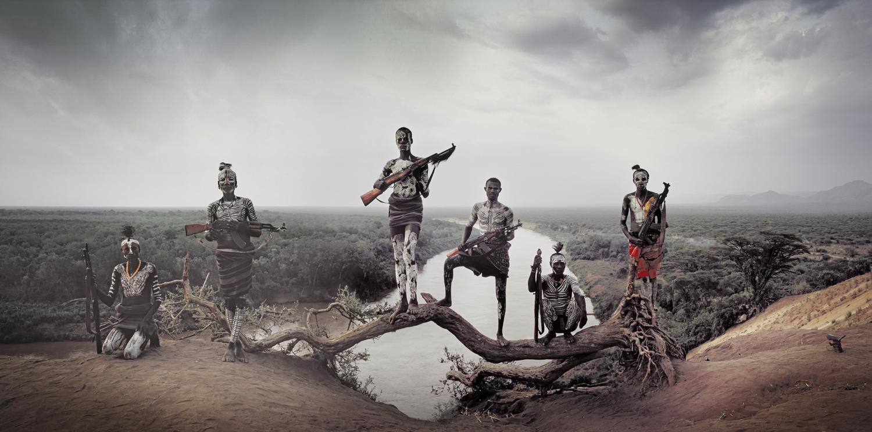 Akree, Bona, Magid, Locharia, Garo & Gobo, Karo Tribe                               Korcho Village, Omo Valley, July 2011