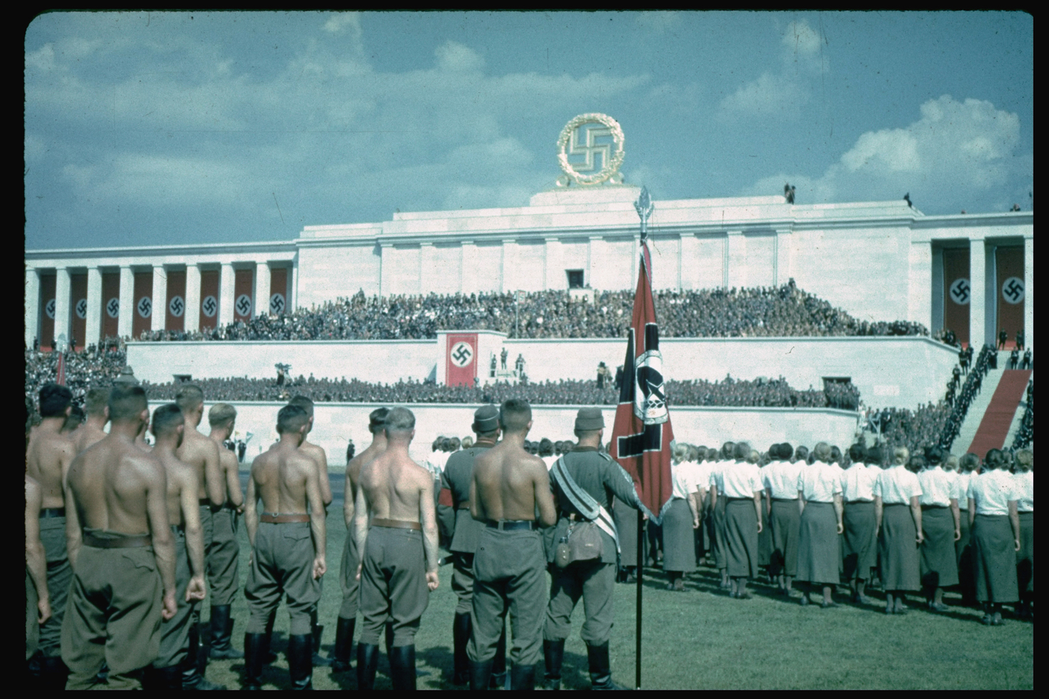 Nazi Party Congress in Nuremberg, Germany, 1937.