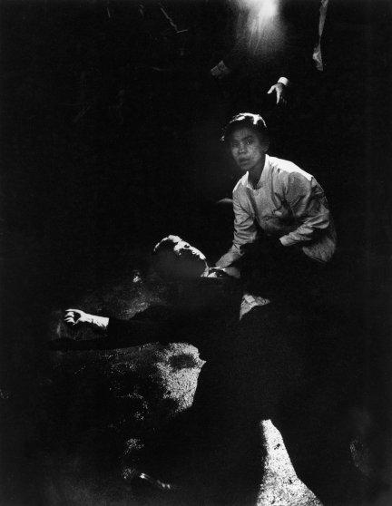 Juan Romero, a busboy, comforts Senator Robert F. Kennedy after he was shot at the Ambassador Hotel in Los Angeles, on June 6, 1968.