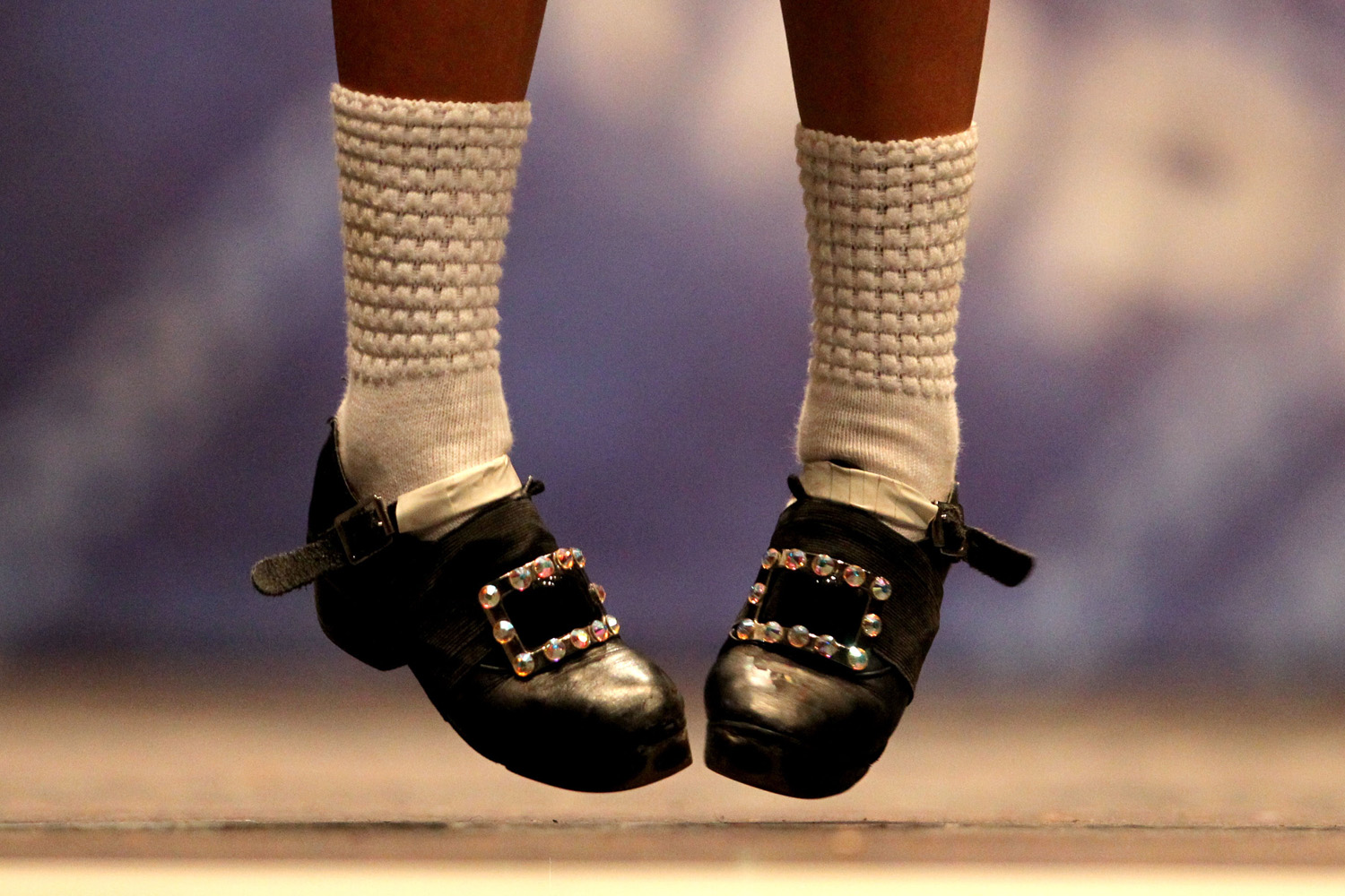 Feb. 25, 2013. A dancer performs in front of judges in one of the heats in the All Scotland Championships in Irish Dancing being held at the Royal Concert Hall in Glasgow.