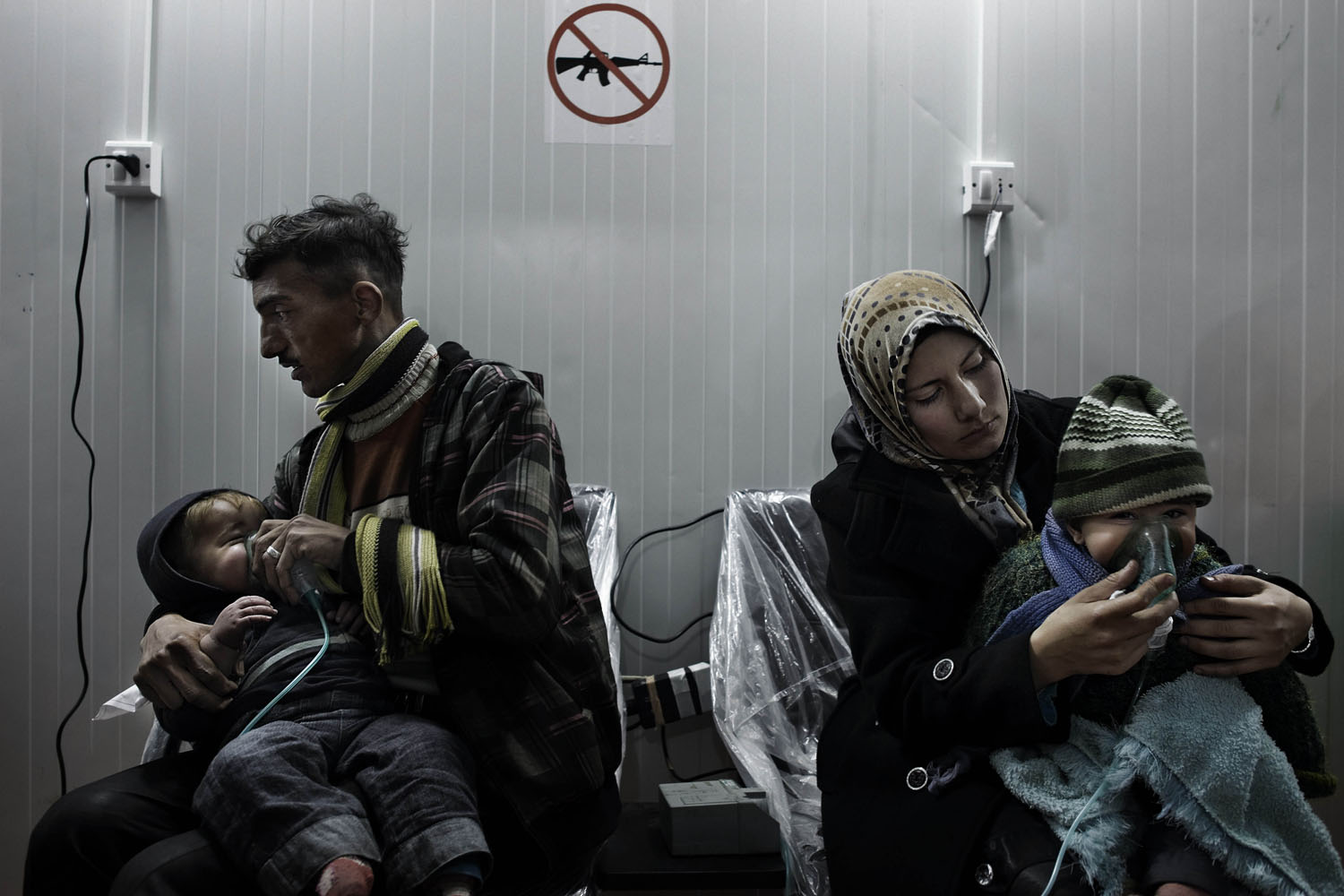 Jan. 12, 2013. The largest camp for displaced Syrians on the border with Turkey provides shelter to nearly 13,000 people. Most of them are children; due to the harsh living conditions, they are often in need of treatment in the only medical facility set up in the camp.