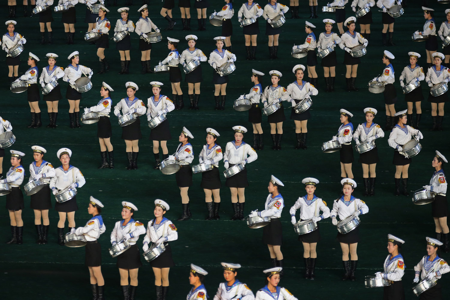 July 22, 2013. Performers participate in the Arirang mass games in Pyongyang, North Korea.