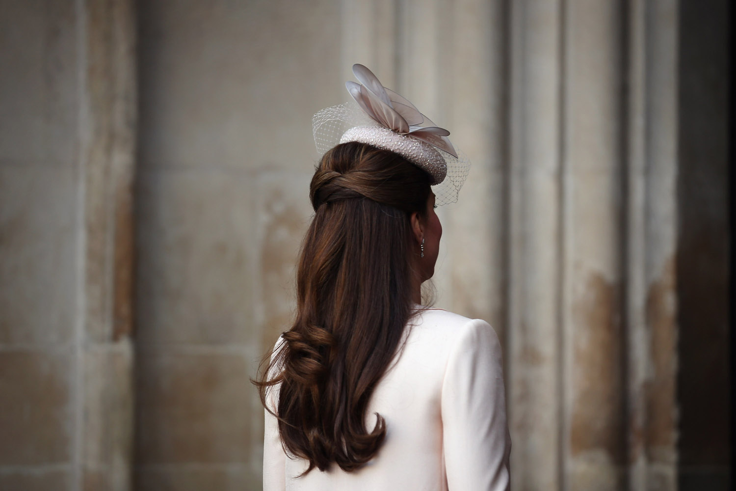 June 4, 2013. Catherine, Duchess of Cambridge, arrives for a service of celebration to mark the 60th anniversary of the Coronation of Queen Elizabeth II at Westminster Abbey in London.