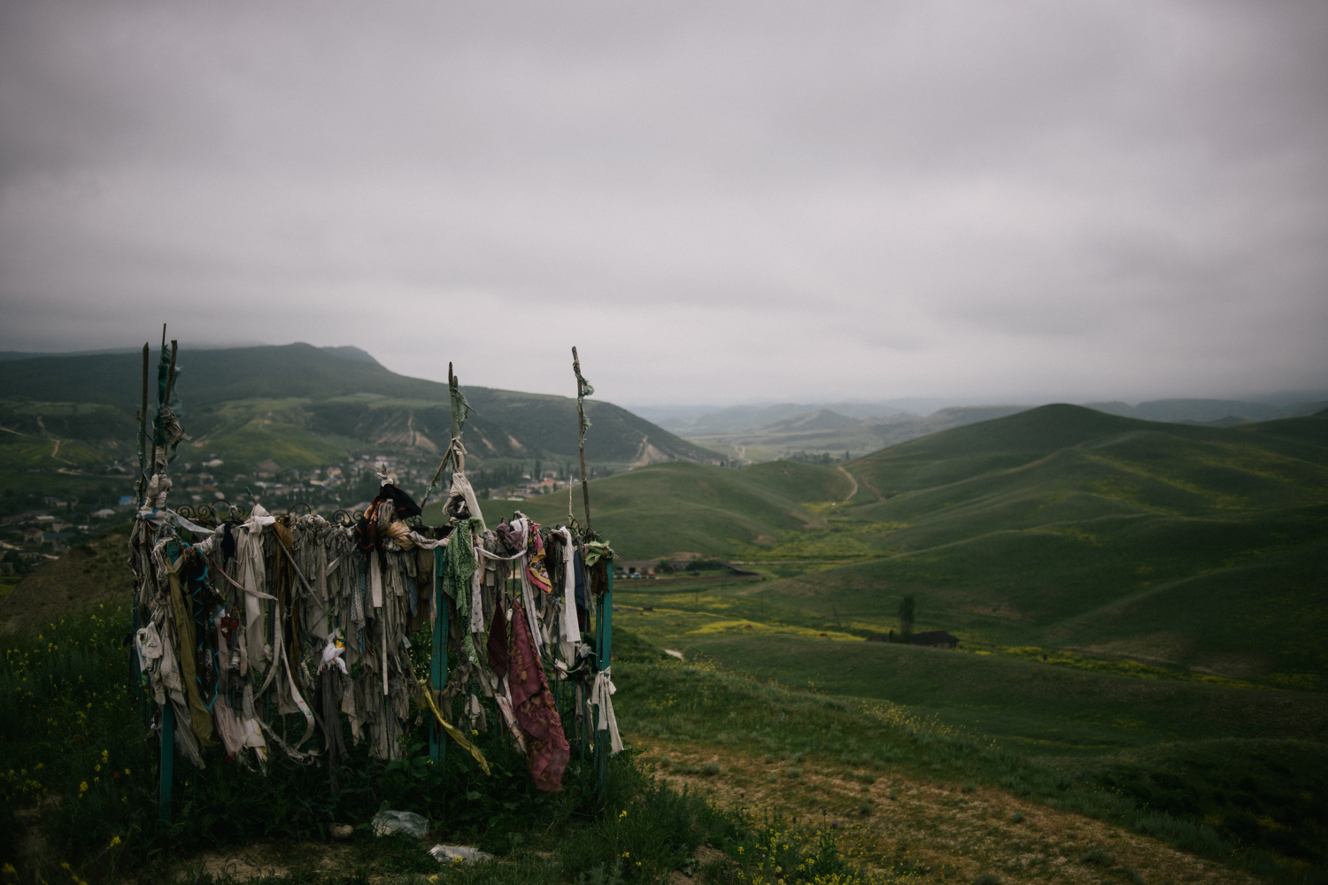 May 12, 2013. A grave above the sleepy village of Utamysh, Russia.
