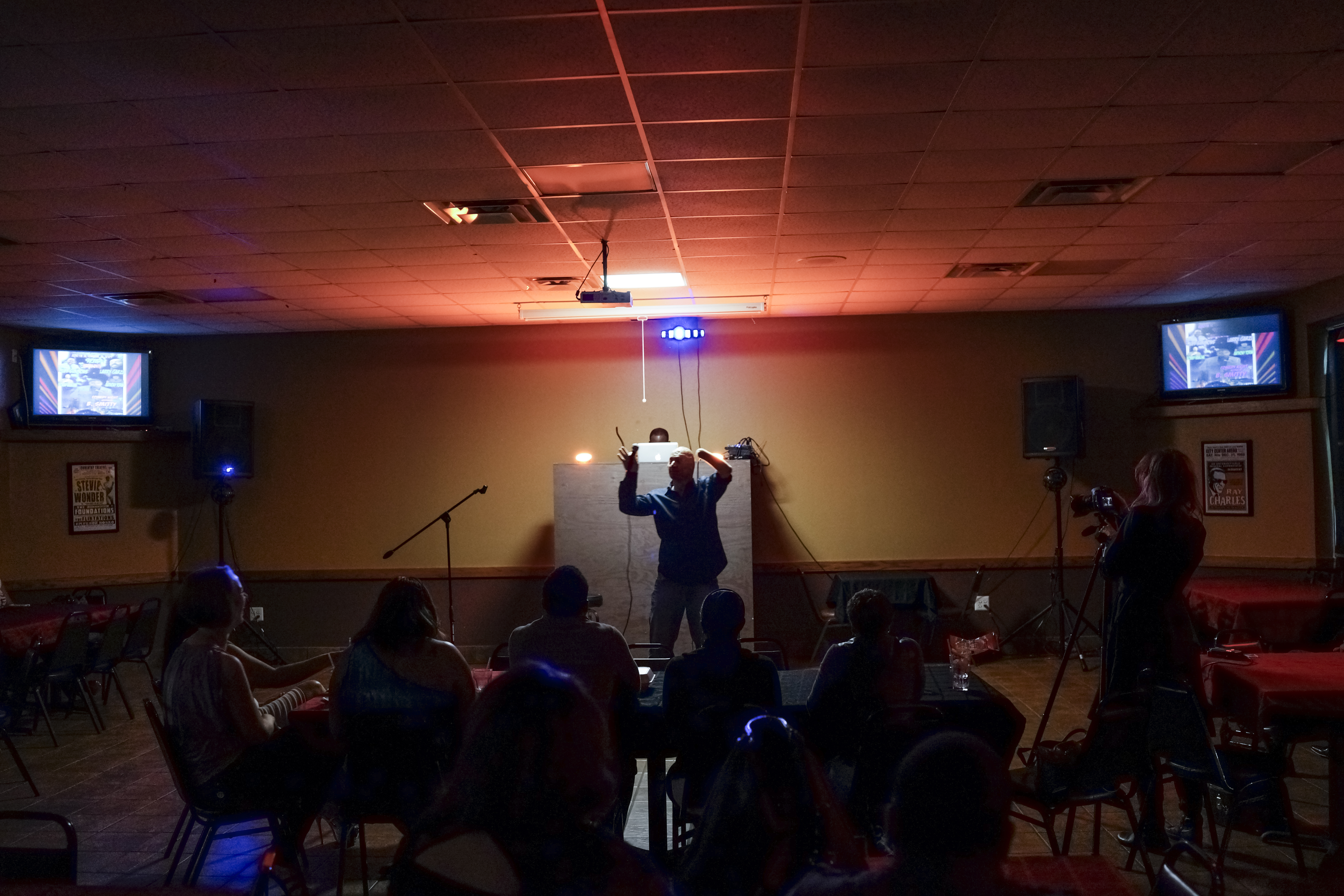 Performing at the Uptown 78 Lounge in San Antonio. 2013.