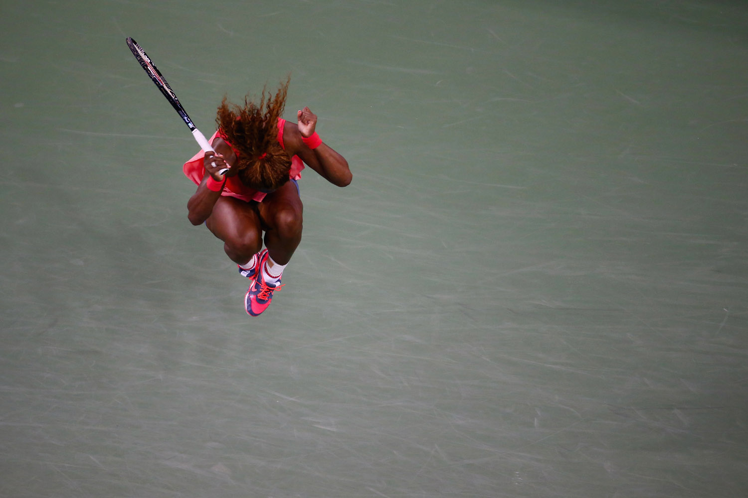 Sept. 8, 2013. Serena Williams of the United States celebrates winning her women's singles final match against Victoria Azarenka of Belarus on Day Fourteen of the 2013 US Open at the USTA Billie Jean King National Tennis Center in New York City.