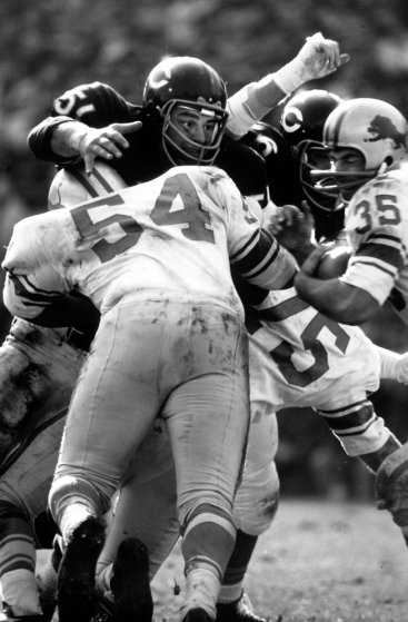 Dick Butkus in action during his rookie season with the Bears in 1965.