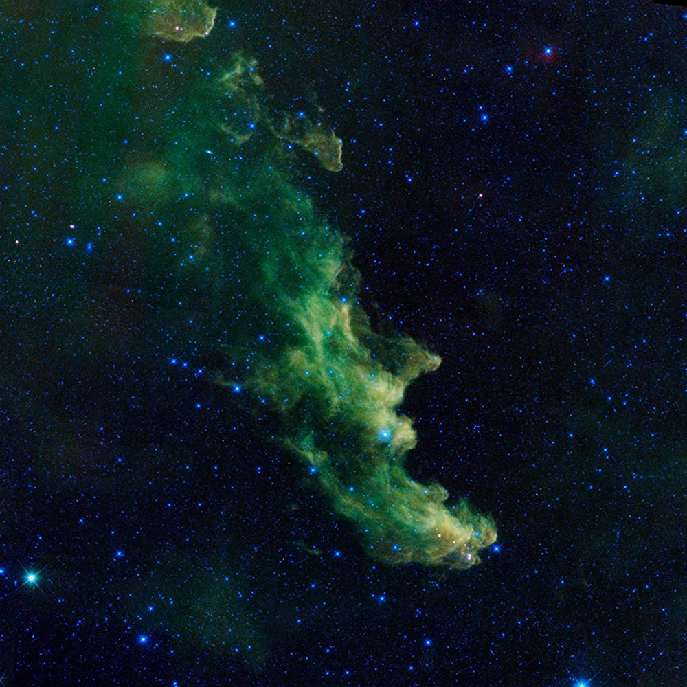 Undated. The Witch Head nebula, named after its resemblance to the profile of a witch, is seen in an infrared handout photo from NASA's Wide-field Infrared Survey Explorer (WISE).