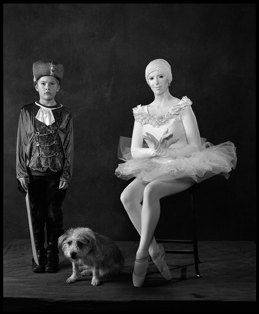 <b>2008: Ballet</b>                                   <i>I saw the ballerina in Central Park and invited her to the party. Hazel, the dog, and Omar (left).</i>