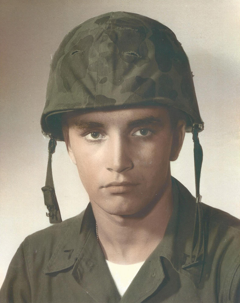 Undated. This photo provided by Virginia M. Cleary shows her brother, Robert D. Corriveau, in his United States Marines fatigues in 1966. Corriveau was thought to be a deserter when he went missing from a Philadelphia V.A. hospital in 1968. Virginia Cleary learned in 2012 that her brother had been stabbed and his body found along the Pa. Turnpike in Nov. 1968 and buried in an unmarked grave.