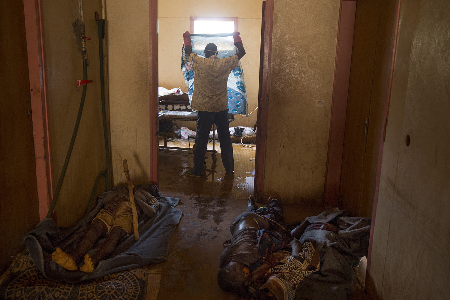 Dec. 6, 2013. Bodies in the hallways of the morgue at the Hôpital Communautaire in Bangui.