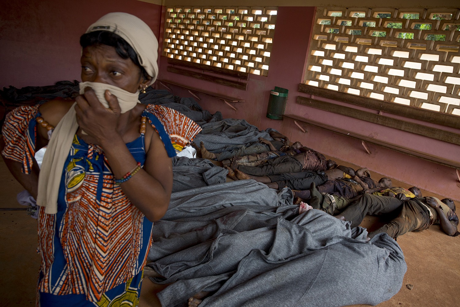 Dec. 6, 2013. Bodies in the morgue of the Hôpital Communautaire in Bangui.