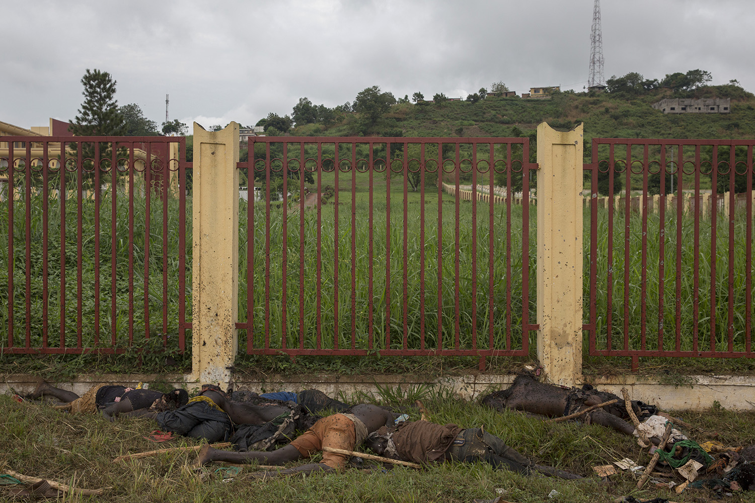Dec. 6, 2013. Bodies of Christians, including some anti-balaka fighters, in front of the National Assembly.