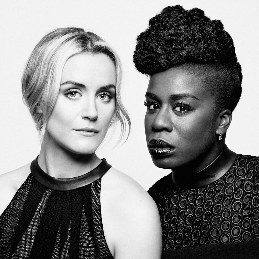 Taylor Schilling and Uzo Aduba. From  The Best of Culture 2013,  Dec. 30, 2013 issue.