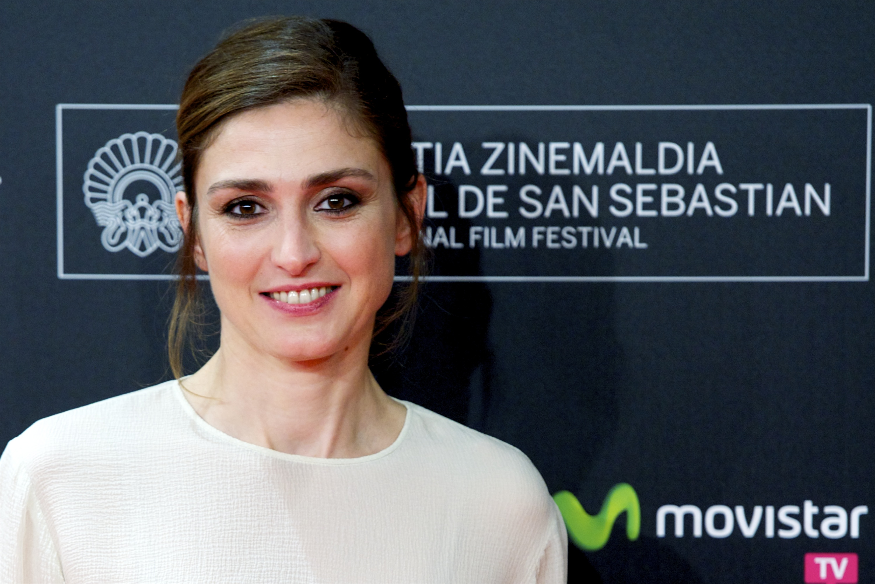 French actress Julie Gayet attends 'Quai D'Orsay' premiere at Kursaal during 61st San Sebastian International Film Festival on September 24, 2013 in San Sebastian, Spain