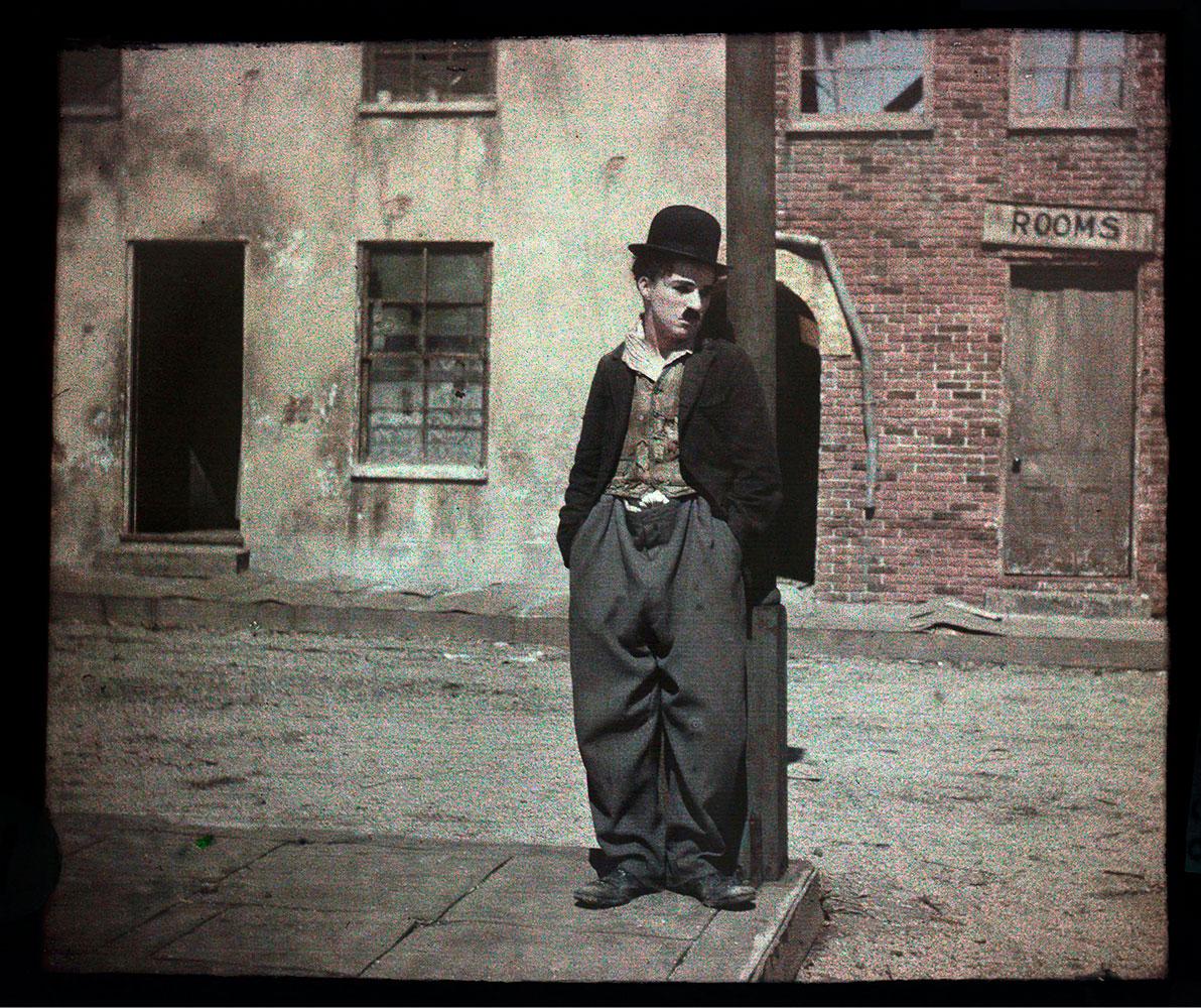 Autochrome portrait of Charlie Chaplin, Hollywood, Calif., circa 1917 - 1918