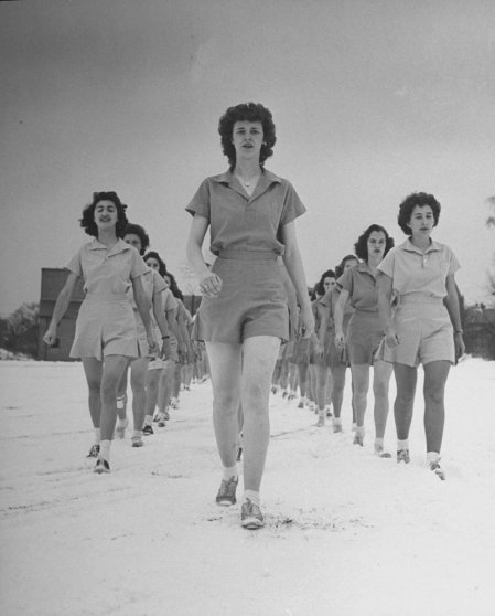 Univ. of New Hampshire coeds training in 1942