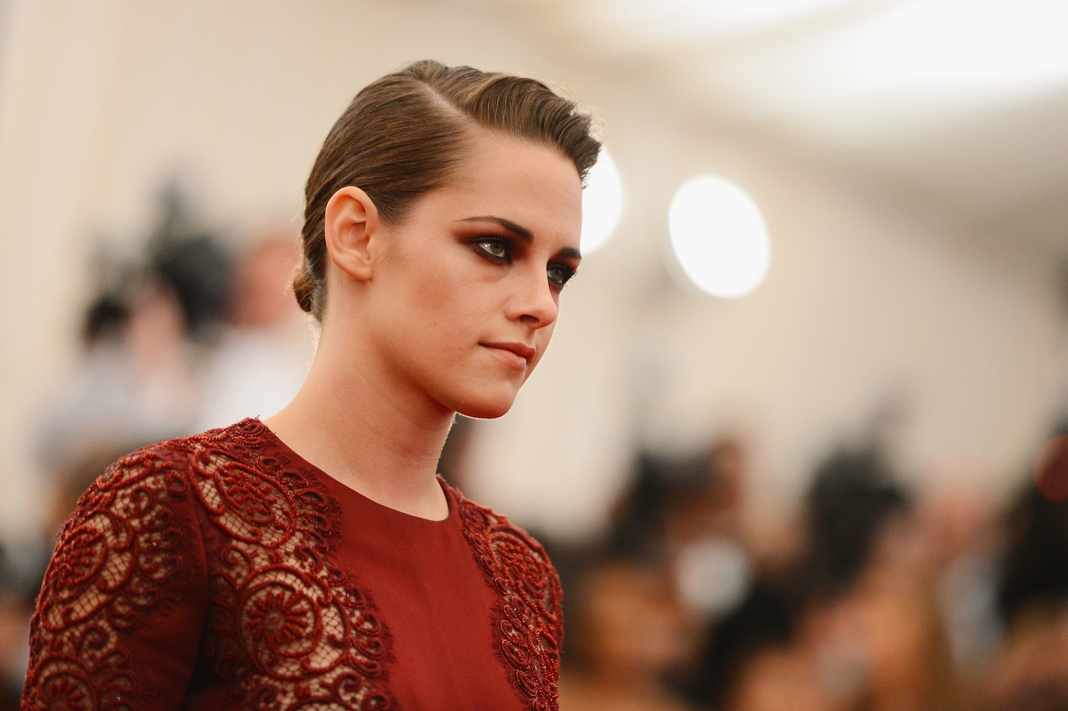Kristen Stewart attends the Costume Institute Gala for the  PUNK: Chaos to Couture  exhibition at the Metropolitan Museum of Art on May 6, 2013 in New York City.