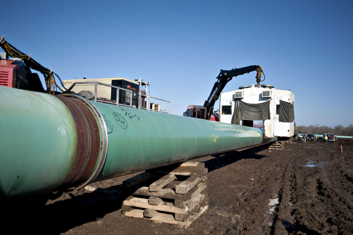 While one section of the Keystone pipeline is under construction, it's up to President Obama to decide if the full project will go forward