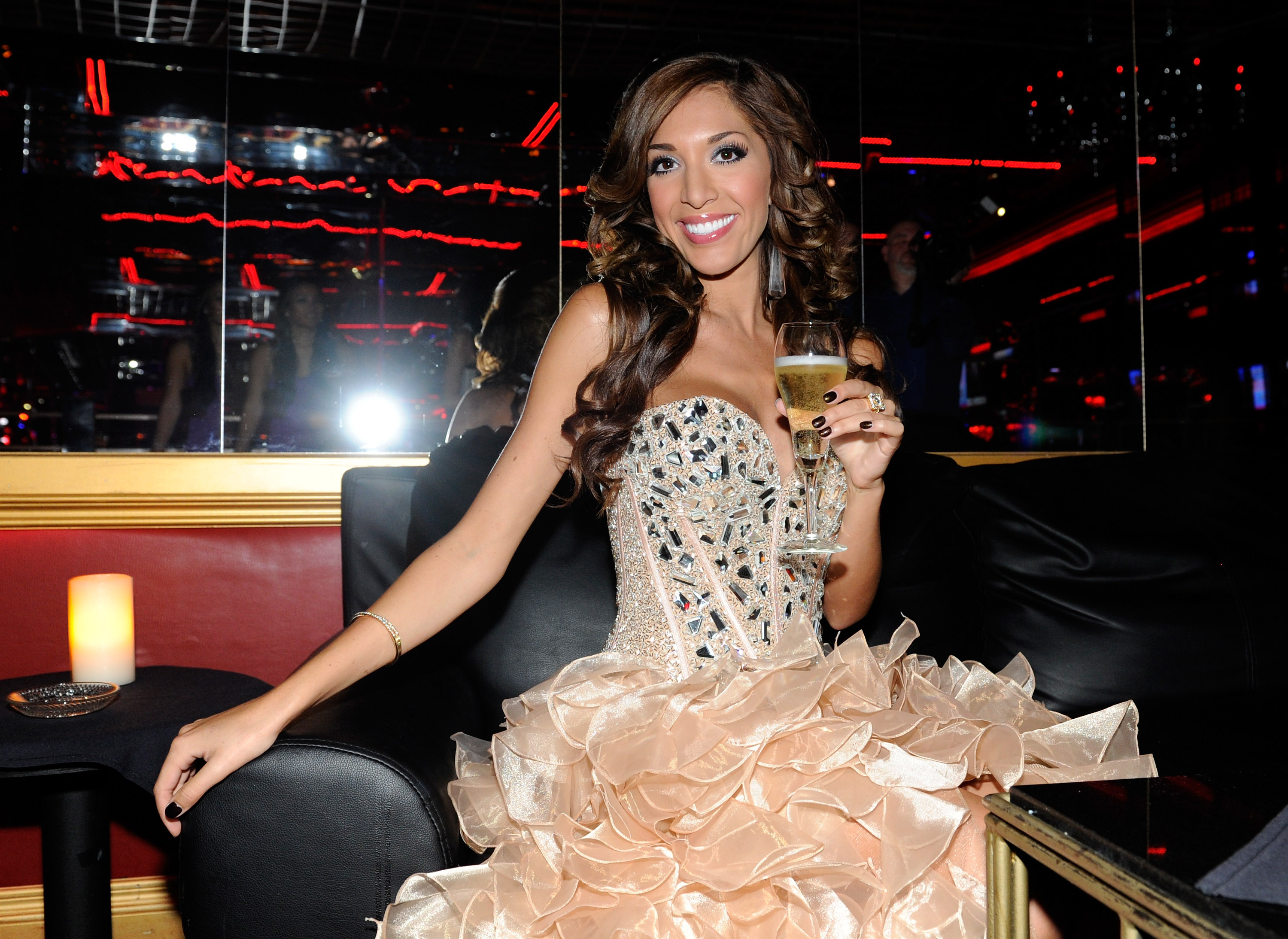 Former 'Teen Mom' star Farrah Abraham appears at the 2013 Gentlemen's Club EXPO & Tradeshow kick off party at the Crazy Horse III Gentlemen's Club on August 20, 2013 in Las Vegas, Nevada.